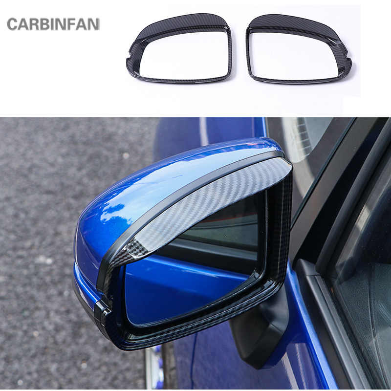 Carbon Fiber Front Water Cup Holder Frame Cover For Honda Jazz Fit GK5 2015-2020