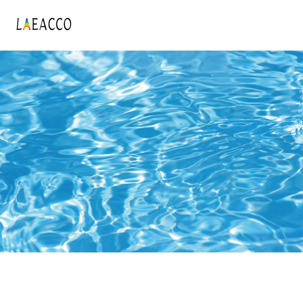 Laeacco fundo de fotografia para estúdio de fotos, backdrops para fotografia de festa piscina azul marinho festa verão