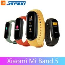 Xiaomi Mi Band 5 inteligentna bransoletka 4 kolorowy ekran dotykowy Miband 5 nadgarstek Fitness Track pulsometr Smartband