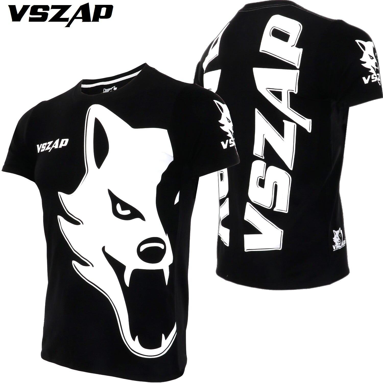 Ambitious 3 Colors Vszap Short-sleeved Fitness Training T-shirt Sanda Training Suit Muay Thai Fighting Jiu-jitsu Mma Sports Running Man