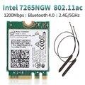 Dual band Wireless 600 Mbps Drahtlose Netzwerk Karte Wifi Empfänger Intel 3168 AC 3168NGW NGFF M.2 802.11ac Wi fi Bluetooth 4 2 karte-in Netzwerkkarten aus Computer und Büro bei
