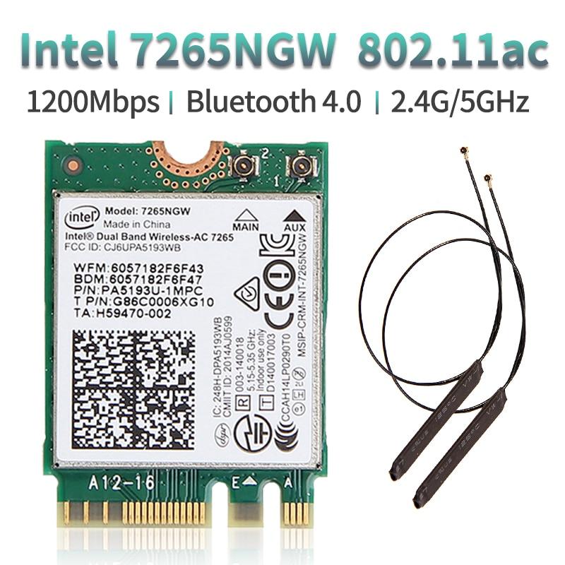 Dual Band Wireless 600Mbps Wireless Network Card Wifi Receiver Intel 3168 AC 3168NGW NGFF M.2 802.11ac Wi-fi Bluetooth 4.2 Card