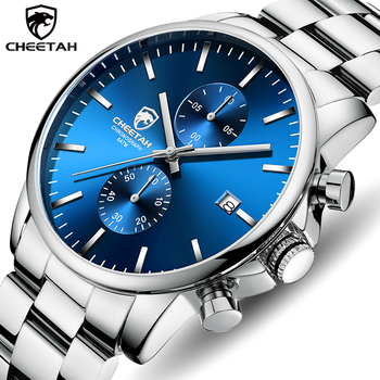 Men Watch CHEETAH Top Brand Luxury Business Wristwatch Fashion Casual Stainless Steel Sports Waterproof Clock Relogio Masculino burei brand silver stainless steel men sports watch fashion business luxury man wristwatch relogio masculino male casual watch