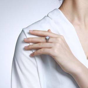 Image 5 - Женское кольцо с опалом Szjinao, винтажные кольца из стерлингового серебра 925 пробы с драгоценными камнями, роскошные брендовые ювелирные украшения, свадебный подарок 2020