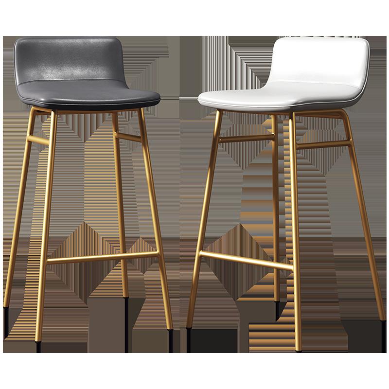 Nordic Ins Net Red Bar Stool Simple High Stool Bar Chair Home Iron Back Light Luxury Bar Chair