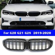 Автостайлинг для bmw 3 серии g20 g21 g28 2019 2020 средняя решетка