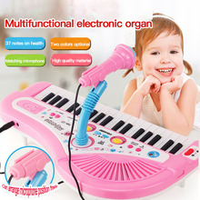 Musical-Toys Microphone Electronic Teaching Mini Kids Keyboard with for Piano-37-Keys