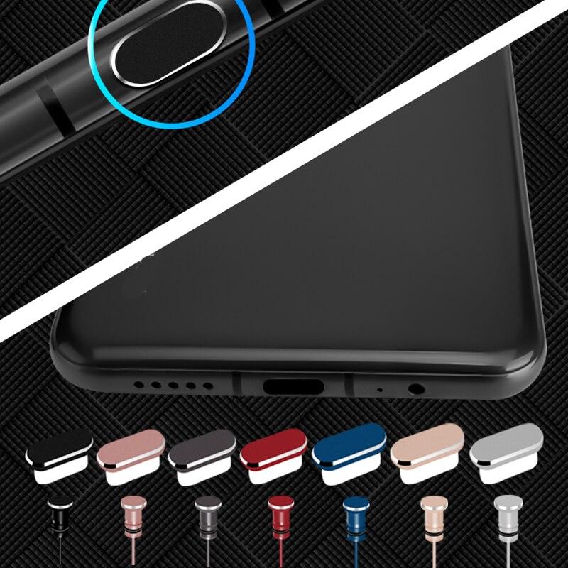 Tipo c porta de carregamento do telefone 3.5mm fone de ouvido jack cartão sim usb c poeira plug para samsung s10 s9 s8 nota 8 9 huawei p10 p20 p30 pro|Dust plug celular|   -