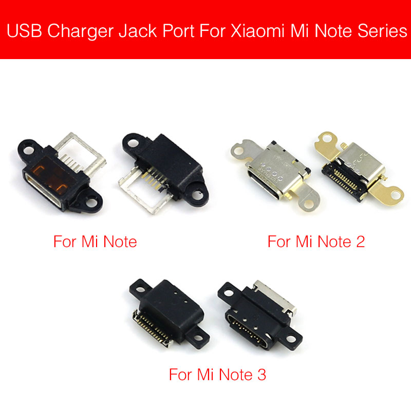 Usb Charge Jack Port Plug Connector For Xiaomi Mi Note 2 3 Pro Chargring Connector Dock Socket Phone Replacement Repair Parts