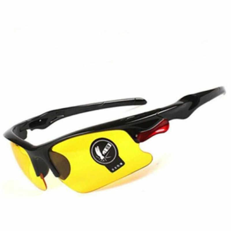 سيارة للرؤية الليلية نظارات مكافحة وهج للرؤية الليلية نظارات للقيادة التروس الواقية سائق نظارات UV حماية النظارات الشمسية