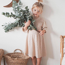 Dresses Toddler Girl Vintage-Style Child Beautiful Winter Full Knit