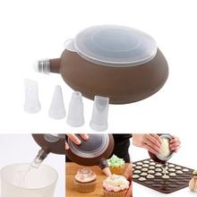 Muffin babeczka dysze czajniczek kształt silikonowe krem tortowy dekoratory do deserów wypieki cukiernicze końcówki ozdabiające