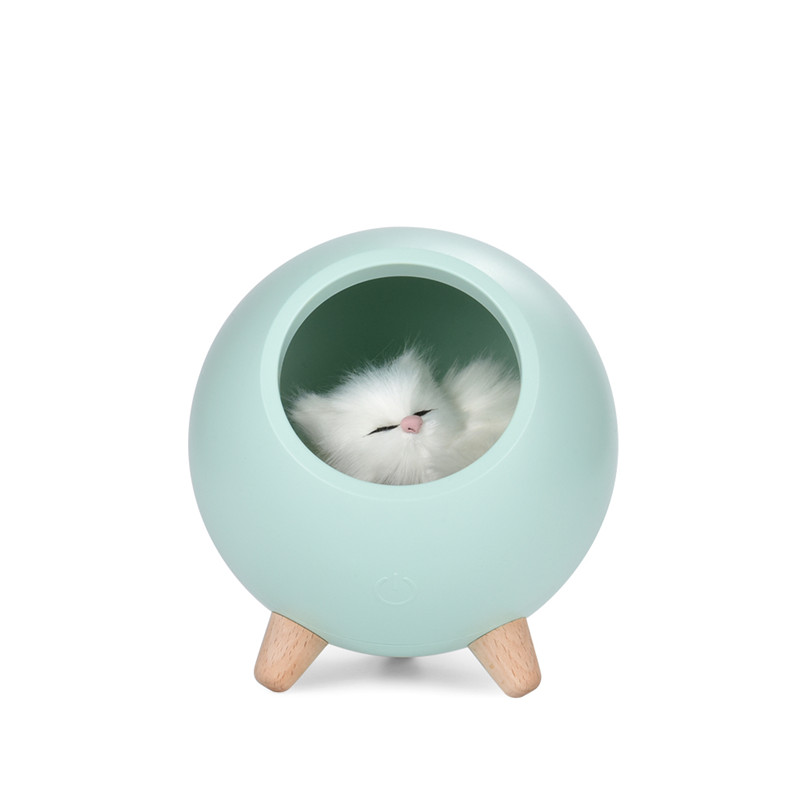 Free_on Cute Cat House Touch Dimming LED Night Light Lamp For  Kids Baby Bedroom  Bedside Decoration Creative Gift Table Lamp