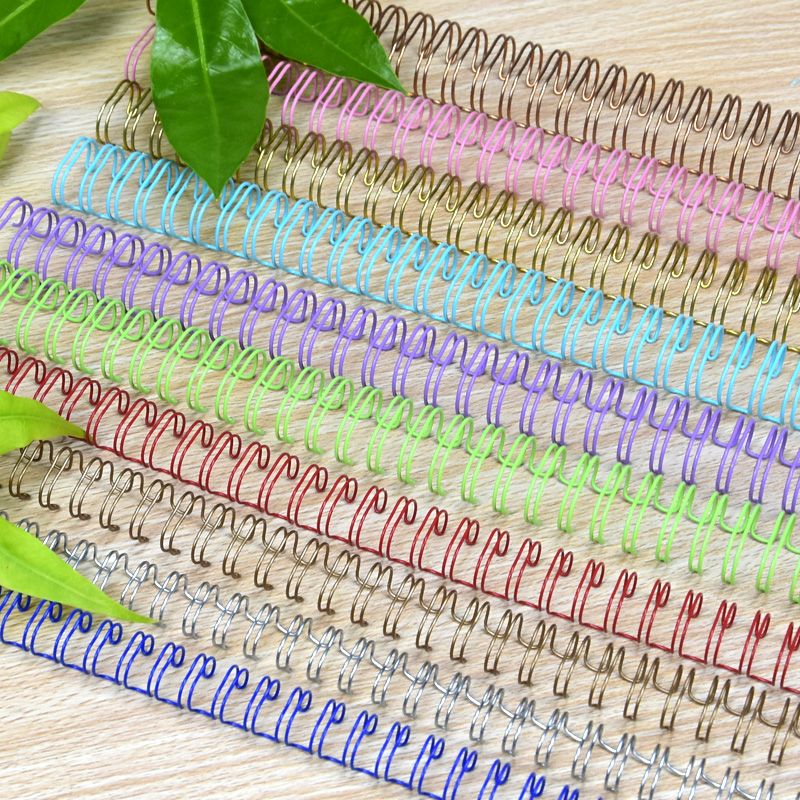 cheapest 100pcs 50pcs Metal YO Double Coil Calendar Binding Coil Notebook Spring Book Ring Wire O Binding A4 Binders Double Wire Binding