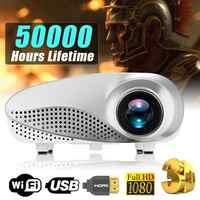Neue Mini Projektor Full HD Tragbare 1080P 3D HD LED Projektor Multimedia Home Theater USB VGA HDMI TV Hause theatre System
