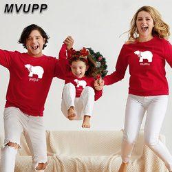 Mãe filha pai filho família olhar sweatshirts roupas mamãe e me combinando roupas grandes irmãs pequenas mãe urso mamãe bebê