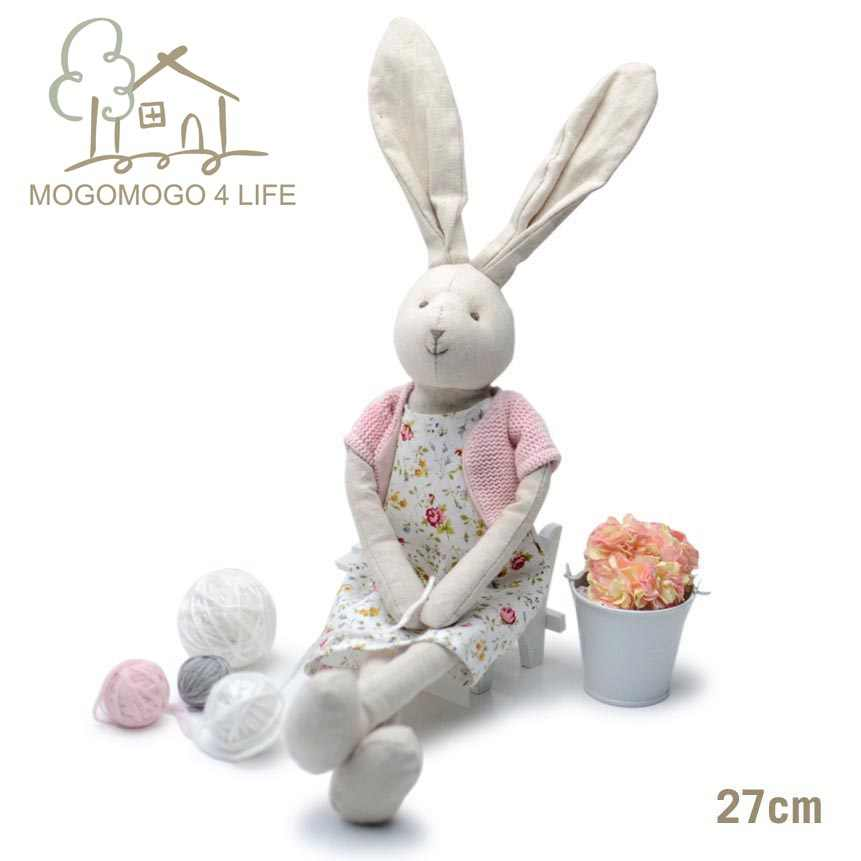Easter plush bunny doll in cute dress