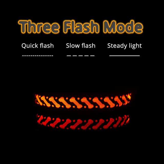 "Luminous Flashing Night Time Walking Pup Collar "" Pets Alpha Says, "" Safety First! ""   2"