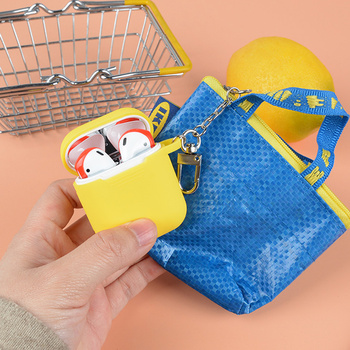 For Airpods case For Airpods 2/1 cute Luxury coin purse Storag ewallet bag Earphone Case For Air pods Pro 3 bag silicone cover 3d lucky rat cartoon bluetooth earphone case for airpods pro cute accessories protective cover for apple air pods 3 silicone