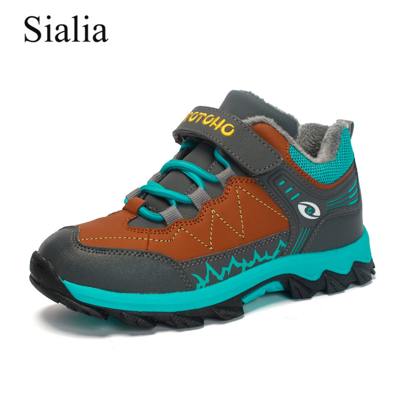Sialia Winter Hiking Sneakers For Kids Shoes Boys Sneakers Children Casual Shoes Girls Sneakers Plush Warm Waterproof Mountains