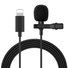 Mini microfone para iphone relâmpago tipo c 3.5mm microfone para samsung huawei xiaomi lapela clip-on gravação microfonoe