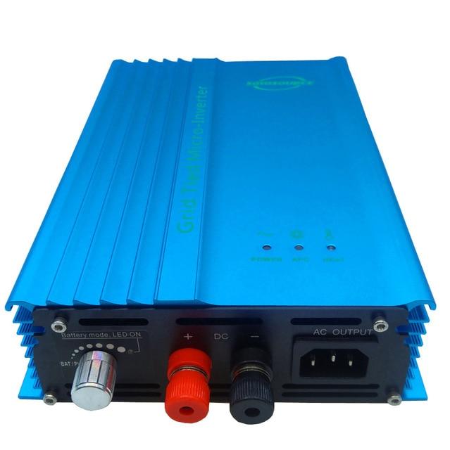 600 Вт 500 Вт микро сетка чистая Синусоидальная волна для PV вход 16в-180в или батарея voc 12в-96в разрядная энергия Регулируемая выходная мощность