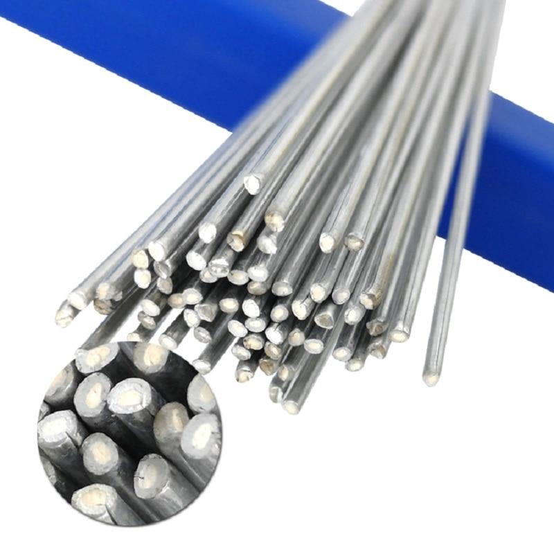 20/50/100PCs Low Temperature Wire Solder Cored Aluminum Welding Brazing Rod 1.6/2MM No Need Solder Powder Bundle Storage Box