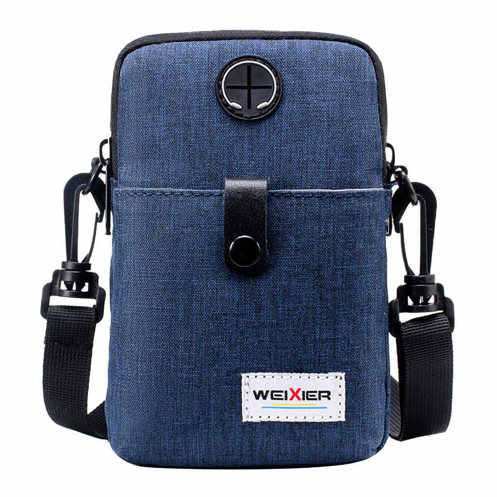 メッセンジャーバッグメンズ革男性斜めミニショルダーバッグ多機能携帯電話の袋アウトドアスポーツバッグ bandolera hombre #15