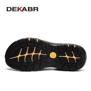 Image 3 - DEKABR Fashion Man Beach Sandals Summer Gladiator Mens Outdoor Shoes Roman Men Casual Shoes Flip Flops Large Size 46 Slippers