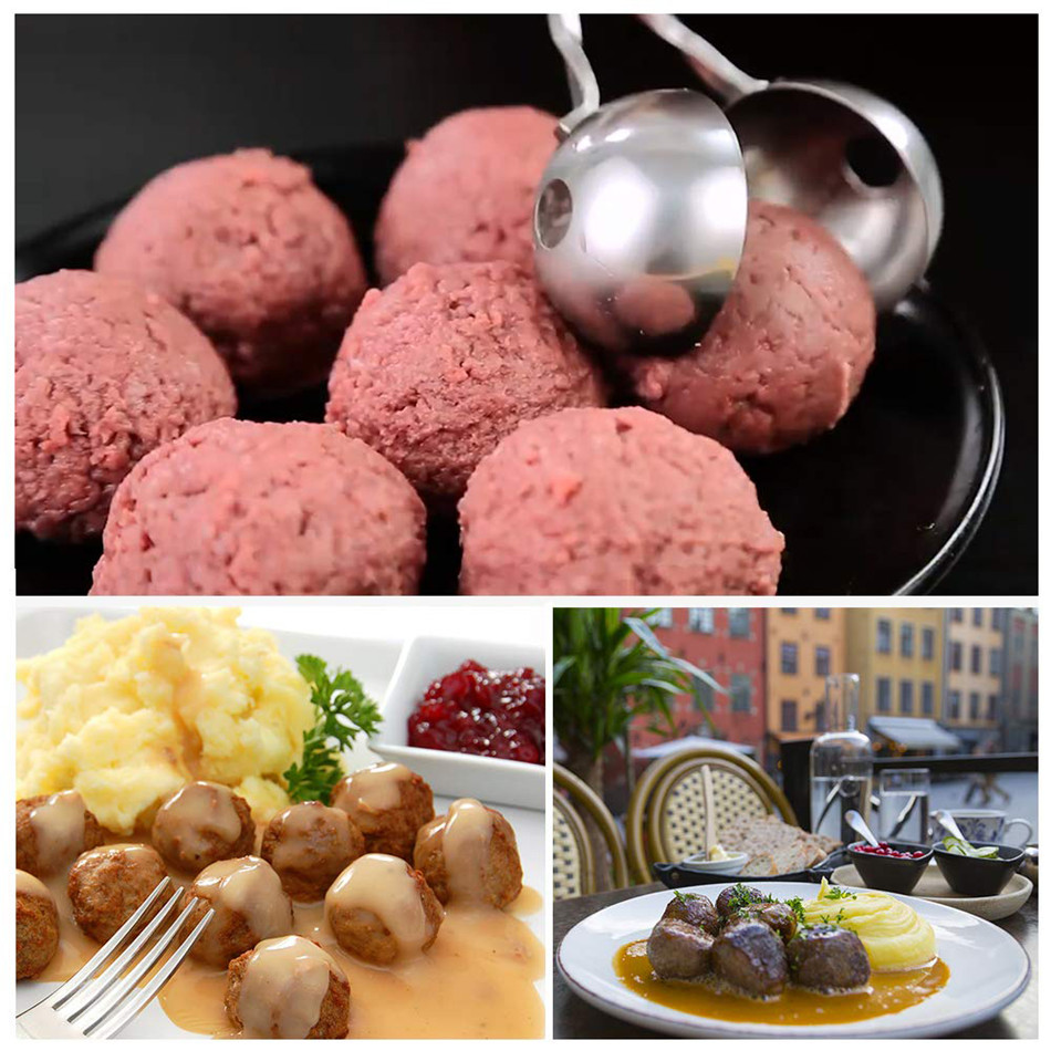 SEAAN Meat Baller  None-Stick Meatball Maker with Detachable Anti-Slip Handles, Stainless Steel Meat Baller Tongs
