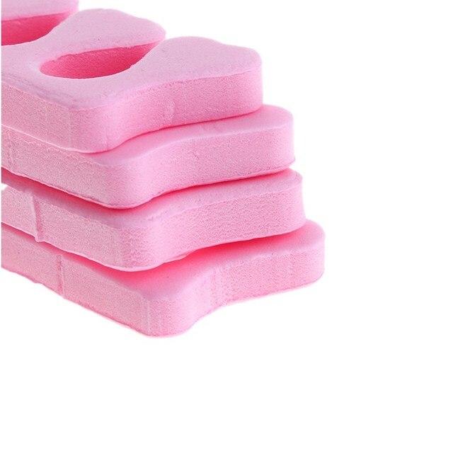 Monja 50/100pcs Pack Nail Art Toes Separators Fingers Random Color Soft Sponge UV Gel Polish Beauty Manicure Pedicure Tools 4