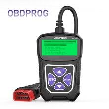 OBDPROG MT100 OBD2 skaner profesjonalnego samochodowe OBD 2 skaner analizator silnika w wielu językach czytnik kodów samochodowe narzędzia diagnostyczne