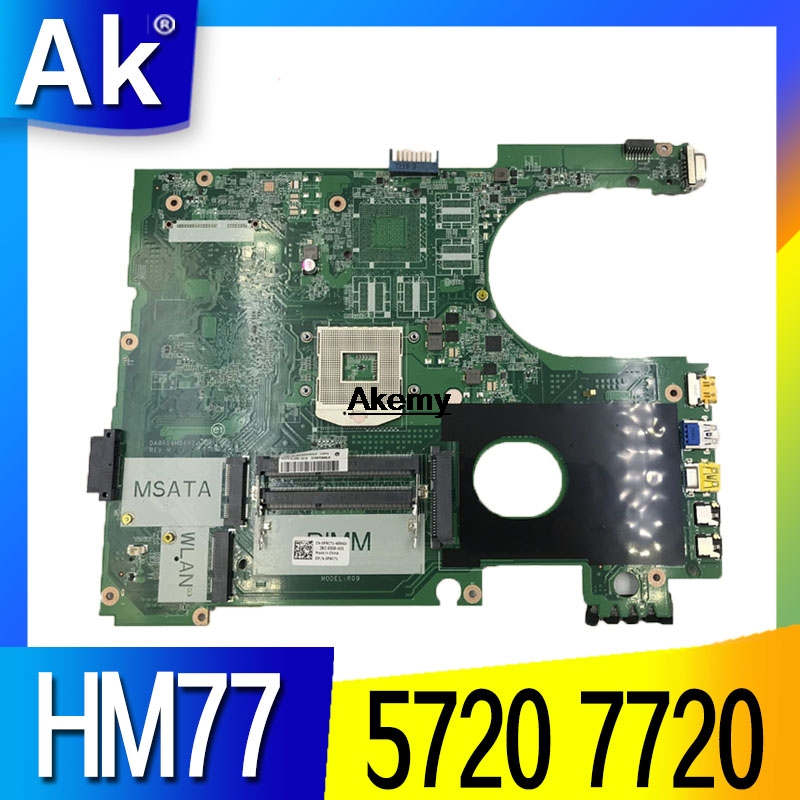 FOR DELL High Quality 0F9C71 CN-0F9C71 Motherboard Inspion 5720 N5720 Laptop Motherboard DA0R09MB6H1 HM77 PGA989