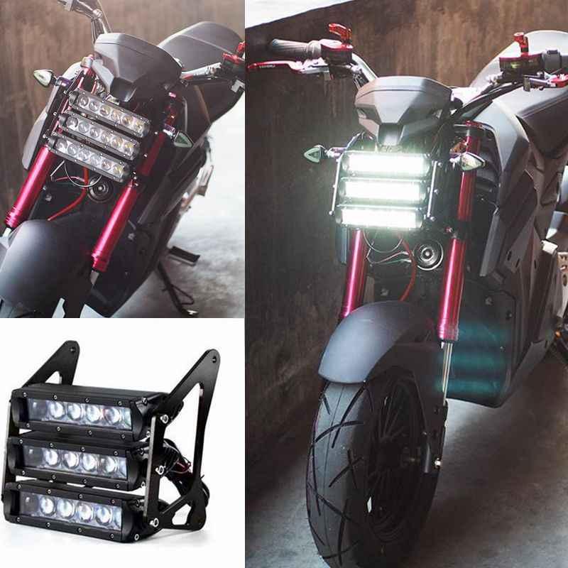 トップ品質 120 ワット led オートバイのヘッドライトアセンブリとブラケット修正された光 IPX6 モーターホンダ用 MSX125 MSX125SF