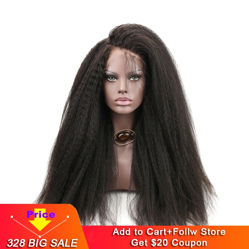 Eseewigs 300 Density Italian Yaki Straight 360 Lace Frontal Wigs Black Women Remy Human Hair Wig With Baby Hair
