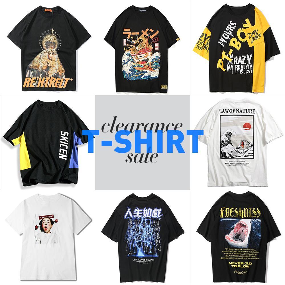 Aelfric Eden Clearance Sale Hip Hop T Shirts Men Casual Cotton Tops Tees Streetwear