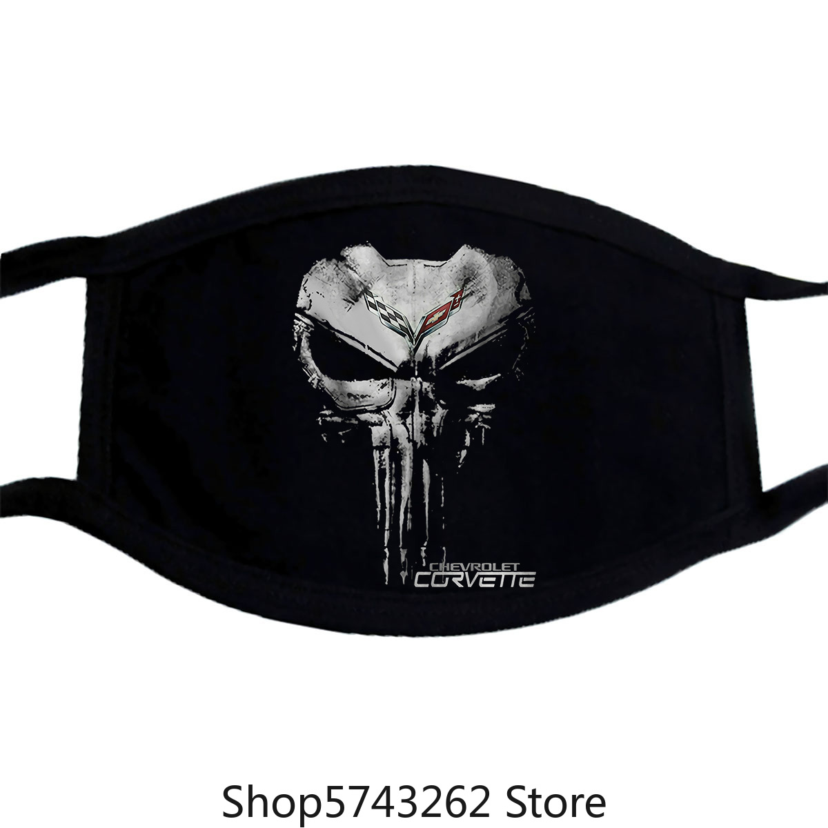 Corvette C7 C6 C5 C4 C3 C2 C1 Z06 Zr1 Men Mask Black Cotton Full Size Washable Reusable Mask With