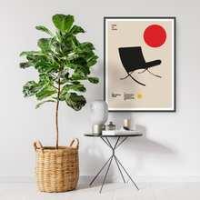 Poster Barcelona Stuhl Ludwig Mies van der rohe Möbel Bauhaus Design