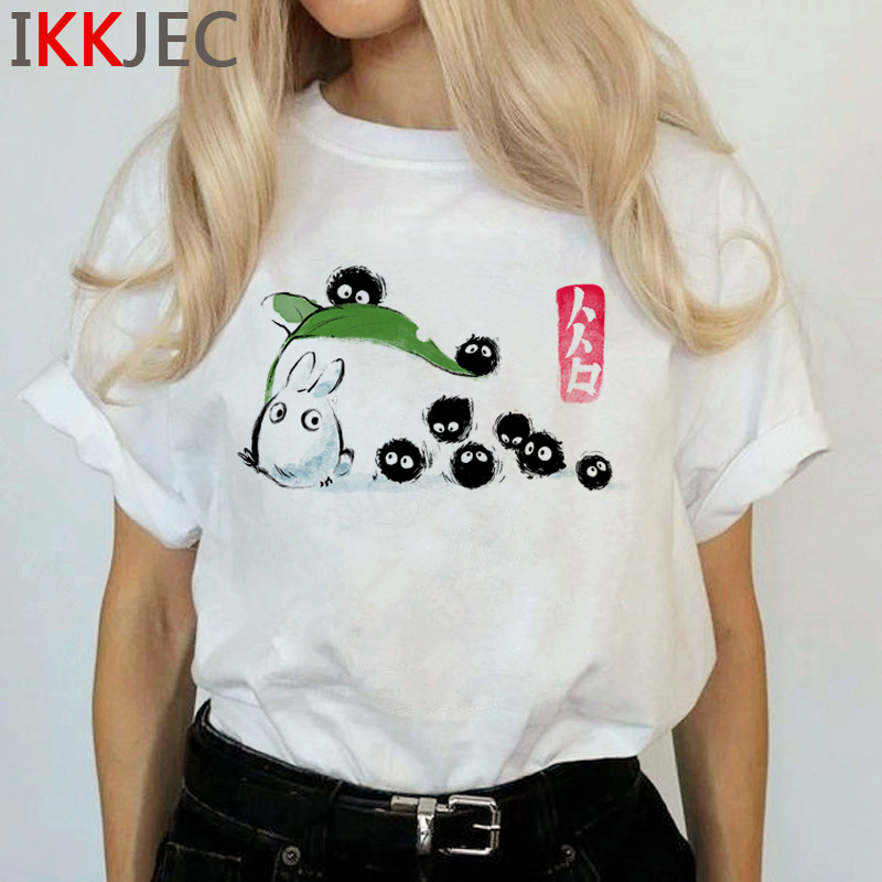 Totoro Harajuku Studio Ghibli T Shirt Women Miyazaki Hayao Ullzang Cute T-shirt Funny Cartoon Tshirt 90s Graphic Top Tees Female 18
