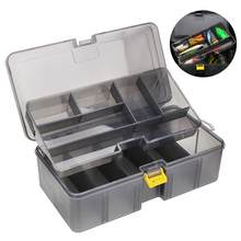 1pcs Waterproof Plastic Double Layer Fishing Tackle Lures Hook Bait Box Storage Case Fishing Tool Pesca Accessories