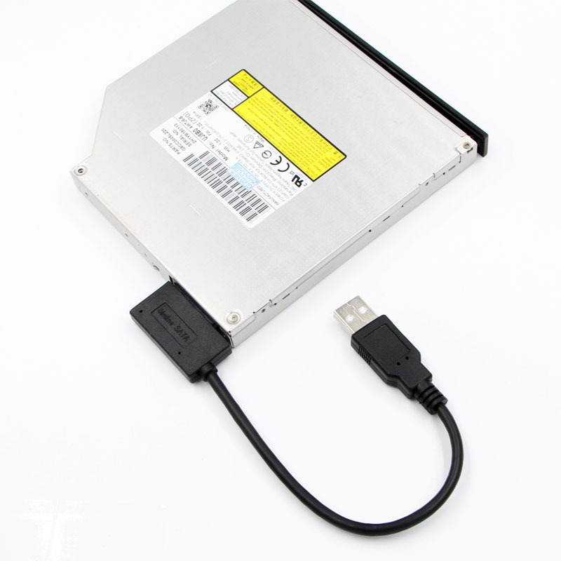 35CM USB Adapter PC 6P 7P CD DVD Rom SATA To USB 2.0 Converter Slimline Sata 13 Pin Drive Cable For PC Laptop Notebook