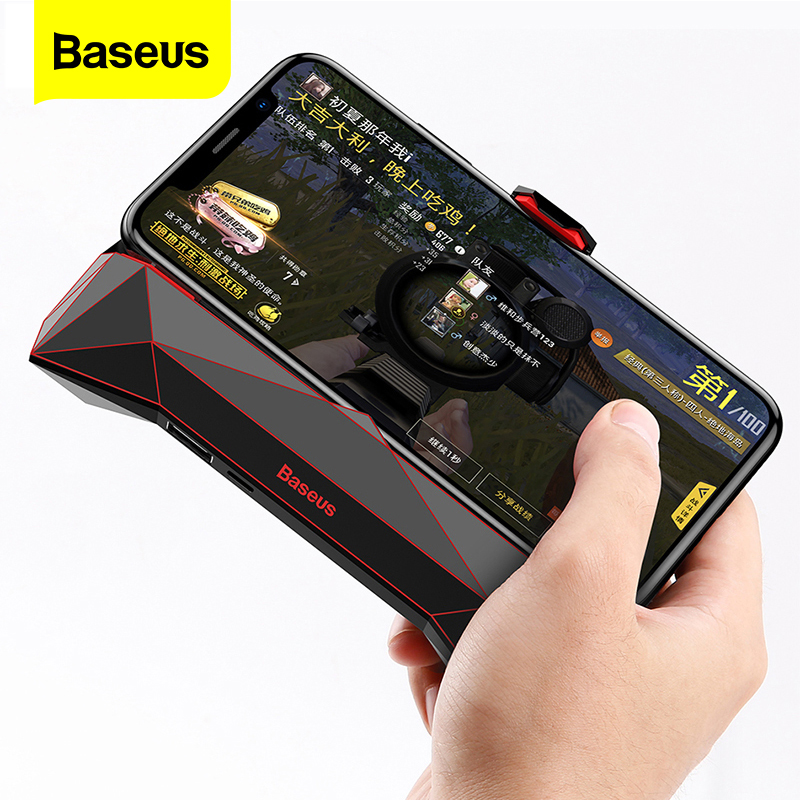 Baseus Game Phone Holder For IPhone XS MAX X Samsung S10 S9 Mobile Phone Cooler Heat Sink Cooling Game Controller Handle Holder