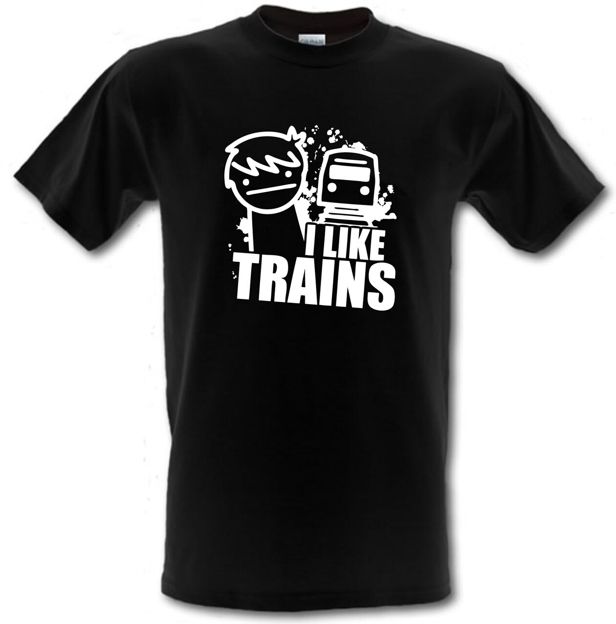 ASDF I LIKE TRAINS  Cult Cartoon Gamer Children/'s t-shirt **ALL AGES**