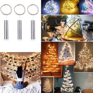 1 м 1,5 м 2 м пробковая бутылка для вина Звездный 10 15 20 светодиодный Ночной светильник в полоску Сказочный светильник s для рождественской вече...