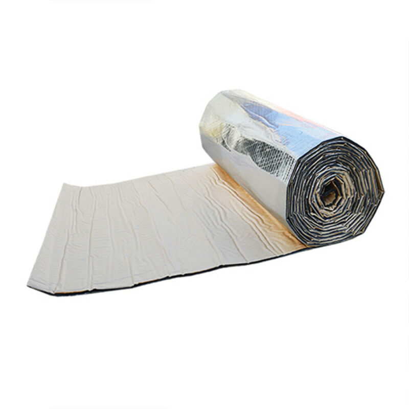 25cm*50cm Car Firewall Sound Deadener Heat Insulation Noise Material Mat 5mm Soundproof Pad Car Interior Decoration