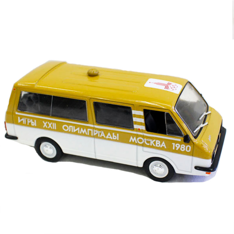 <font><b>1</b></font>:<font><b>43</b></font> <font><b>Scale</b></font> Winter Sports Special <font><b>Car</b></font> Russia RAF2203 Latvia Retro Van Collection Diecast Alloy <font><b>Model</b></font> Metal Traffic Kids Fans Toy image