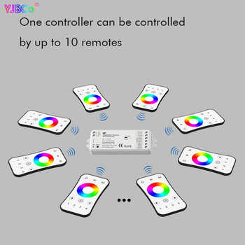 Dimming led controller 4 in 1 VP RF 2.4G RGBW/RGB/CCT DC12-24V 15.5A 4CH receiver PWM dimmer for led strip led bulb