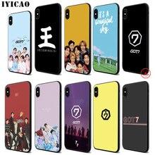 IYICAO Got7 Band K Pop Got 7 Soft Black Silicone Case for iPhone 11 Pro Xr Xs Max X or 10 8 7 6 6S Plus 5 5S SE цена