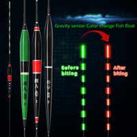 Smart Angeln Float LED Licht Leucht Glowing Schwimmt Fisch Beißen Automatisch Erinnern Elektrische Angeln Boje Mit Batterien