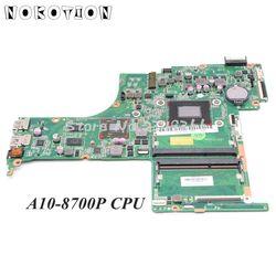 NOKOTION 809408-001 809408-601 814752-001 dla HP Pavilion 15z-ab 15-ab laptopa płyty głównej płyta główna w DA0X21MB6D0 A10-8700P procesor M360 2GB gpu